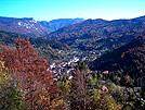 Pogled na Čabar u jesen