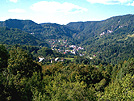 Pogled na Čabar iz Tometi